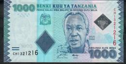 TANZANIA P41a 1000 SHILLINGS  #CH Security Dematerialiezd BOT AU - Tanzanie