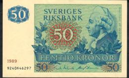 SWEDEN P53d 50 KRONOR 1989 #9240646297  XF - Suède