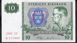 SWEDEN P52e 10 KRONOR 1990  #CF   UNC. - Suède