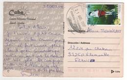 """Timbre , Stamp  """" Tourisme :  Oiseau """" Sur Carte , Cp , Postcard Du 21/08/2012 - Cuba"""