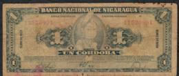 NICARAGUA P99 1 CORDOBA 1959 FINE DIRTY NO P.h. - Nicaragua