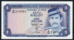BRUNEI P6c 1 RINGGIT 1983  #A/26   UNC. - Brunei