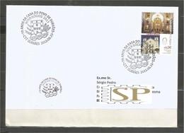 Portugal 2013 Rota Das Catedrais Castelo Branco 70 Anos Casa Do Povo De Durrães Brazão - Poststempel (Marcophilie)