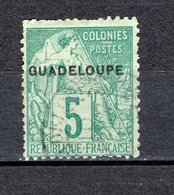 GUADELOUPE N° 17  OBLITERE COTE 8.50€    TYPE ALPHEE DUBOIS  VOIR DESCRIPTION - Guadeloupe (1884-1947)