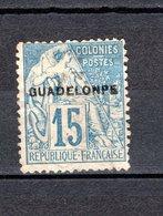 GUADELOUPE N° 19aC OBLITERE COTE 120.00€   VARIETE   TYPE ALPHEE DUBOIS - Oblitérés
