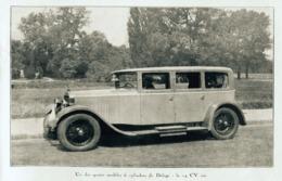 """#17 Reproduction Photo Publicitaire 1928 """"Delage 6 Cylindres, La 14 CV Six"""", Sur Carte Postale - Toerisme"""
