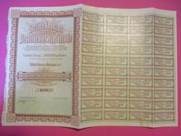 Obligation De 500 Francs Au Porteur Entièrement Libérée/Sté An. Des Distilleries De La Côte D'Or /GENLIS /1905    ACT233 - Industrie