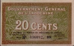 FRENCH INDOCHINA  P. 86d 20 C 1939 XF - Indochina