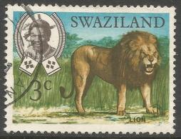 Swaziland. 1968 Animals. 3c Used. SG 164 - Swaziland (1968-...)