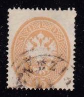 LOMBARDO VENETO-1863-catalogo Sassone N° 40-15 Soldi Bruno-usato A Venezia - Lombardije-Venetië