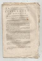 Bulletin De La Convention Nationale,l'an III, Paris : 1 Seule Espace De Pain, 7 Pages , Frais Fr 1.95 E - Decrees & Laws