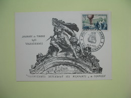 Carte  - Journée Du Timbre  1955  Valenciennes - France