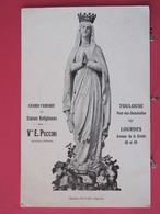 Visuel Très Peu Courant - 31 - Grande Fabrique De Statues Religieuses Puccini à Toulouse Et Lourdes - Scans Recto Verso - Toulouse