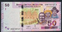 BOLIVIA NLP  50 Bolivianos 28.11.1986  #00--A   Issued  2018 Signature 94  UNC. - Bolivia