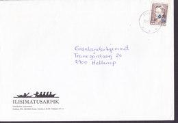 Greenland GRØNLANDS UNIVERSITET, NUUK 1996 Cover Brief HELLERUP Denmark 4.50 Auf 1.00 Kr Margrethe Provisorium - Grönland