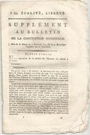 Bulletin De La Convention Nationale,l'an III, Section Des Thermes , 7 Pages , Frais Fr 1.95 E - Décrets & Lois
