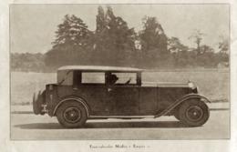"""#19 Reproduction Photo Publicitaire 1928 """"Faux-cabriolet Mathis - Emysix- """", Sur Carte Postale - Voitures De Tourisme"""