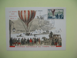 Carte  - Journée Du Timbre  1955  Limoges - France