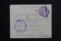 ALLEMAGNE - Enveloppe De Planig Pour Prisonnier à Chatillon Le Duc En 1918 - L 22441 - Covers & Documents