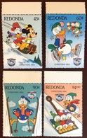 Antigua Redonda 1984 Disney Christmas 4 Values MNH - Antigua And Barbuda (1981-...)