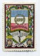 """VIGNETTE MILITAIRE DELANDRE """"102e Territorial -1914-1918"""" - Charnière Ou Trace De Charnière Au Verso - 1877-1920: Periodo Semi Moderno"""