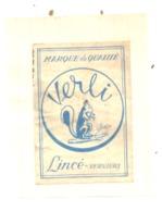 """Etiquette De Boîte D'allumettes - VERVIERS , Publicité Lincé """" Verli """"   (bac) - Boites D'allumettes - Etiquettes"""