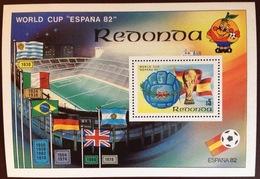 Antigua Redonda 1982 World Cup Minisheet MNH - Antigua And Barbuda (1981-...)