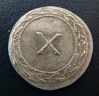 Spintria X_ Tessère Spintrienne Pompéi, Jeton Romain De Lupanar_ Ier S. Repro. - Romeins