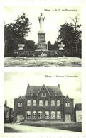 DHUY   Le Calvaire Et L' église. - Eghezée
