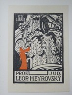 Ex-libris Illustré Tchecoslovaquie XXème - PROF. JUD. LEOP. HEYROVSKY - Ex-libris