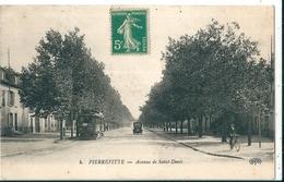 PIERREFITTE  ( 93 )   Avenue De Saint-Denis En 1900  (  5 C Vert Non Oblitéré  )     T.B.E. - Pierrefitte Sur Seine