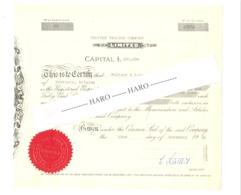 PELTZER TRADING COMPANY, Certificat De Possession De Parts - 1960 - VERVIERS Peltzer & Fils    (jm) - Actions & Titres