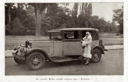 """#23 Reproduction Photo Publicitaire 1928 """"6 Cylindres Berliet Type - Brougham -"""", Sur Carte Postale - Voitures De Tourisme"""