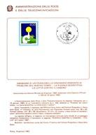 Italia 1983 BOLLETTINO ILLUSTRATIVO N. 1 RICERCA CONTRO IL CANCRO. - 6. 1946-.. Republic