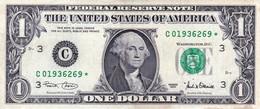 "USA 1 Dollar Of Federal Reserve Notes 2001 VF STAR NOTE PHILANDELPHIA ""free Shipping Via Registered Air Mail"" - Billets De La Federal Reserve (1928-...)"