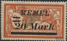 Memelgebiet 95 Unmounted Mint / Never Hinged 1922 Supplementary Issue - Memelgebiet
