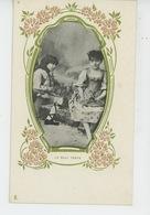 """ENFANTS - Jolie Carte Fantaisie Enfant """"Le Beau Temps """"- Carte Pub Pour CHICORÉE DANIEL VOELCKER COUMES à BAYON (54) - Enfants"""