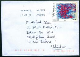 X285-  Postal Used Cover. Posted From France To Pakistan - Other