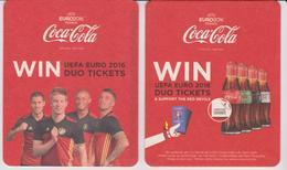COCA COLA - Sous Bock Double Face - EURO 2016 - Sous-bocks