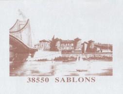 SABLONS 38 ISERE - VILLAGE ET PONT - PAP ENTIER POSTAL 2008, VOIR LES SCANNERS - Vacances & Tourisme