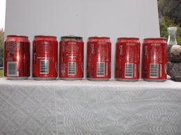 COCA COLA - Lot De 6 Cannettes Vides Venant De THAILANDE En + Ou - 2000 - Cannettes