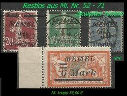 Mi. Nr. 52 - 71 : 4 Werte In Postfrisch Und Gebraucht - Memel (Klaïpeda)