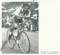 CYCLISME : PHOTO (1956), TOUR DES FLANDRES, JEAN FORESTIER S'IMPOSE AU SPRINT, COUPURE LIVRE - Cyclisme