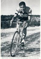 CYCLISME : PHOTO (1955), TOUR D'ESPAGNE, RAPHAEL GEMINIANI, UN TRES BEAU COUREUR, COUPURE LIVRE - Cyclisme