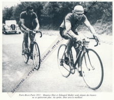 CYCLISME : PHOTO (1951), PARIS-BREST-PARIS, MAURICE DIOT, LE VAINQUEUR,  ET EDOUARD MULLER, COUPURE LIVRE - Cyclisme