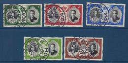 """Monaco YT 473 à 477 """" Mariage Princier """" 1956 Oblitéré - Used Stamps"""
