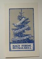 Ex-libris Illustré Hongrie XXème - NAGY FERENC - Bookplates