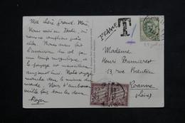 FRANCE - Taxes De Roanne Sur Carte Postale Italienne En 1927 - L 22463 - Storia Postale
