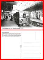 CPSM/gf TRANSPORTS. Métropolitain De Paris, Station Grenelle 1933. Pub Chocolat Velma Suchard...I0542 - Métro
