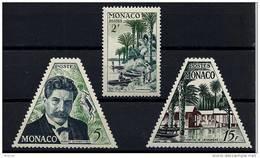 """Monaco YT 412 à 414 """" Docteur Albert Schweitzer """" 1955 Neuf** - Nuevos"""